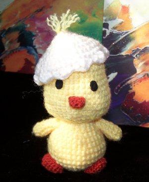 Amigurumi duckling