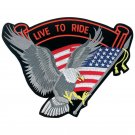 GFPATCHE: Diamond Plate ™ 12 pc Embroidered Live to Ride Eagle Patches