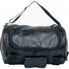 LUMBB16: Diamond Plate ™ Rock Design Genuine Buffalo Leather Motorcycle Barrel Bag