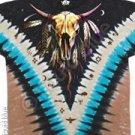 Bison Skull vdye - Tye Dye M - XL Shirt