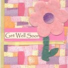 Get Well Soon Flower Greeting Card