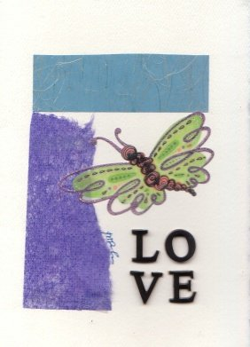 Love Greeting with Butterfly
