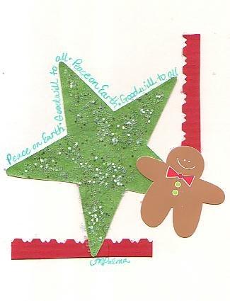 Gingerbread Man & Star Holiday Greeting