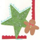 Gingerbread Man & Star Holiday Greeting