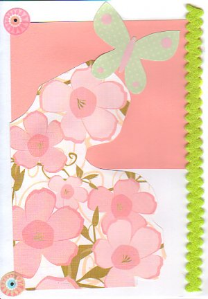Springtime Collage - Handcrafted Greeting Card