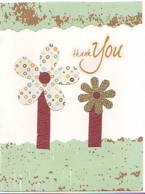 Flower Themed Handcrafted Greeting Card
