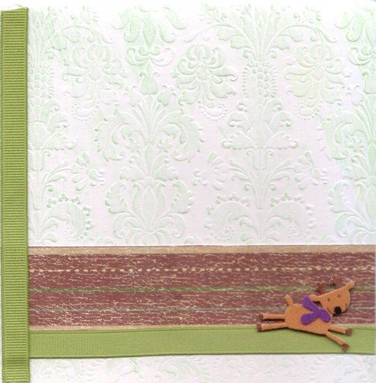 "Holiday Greeting Card - ""Reindeer at Play"""