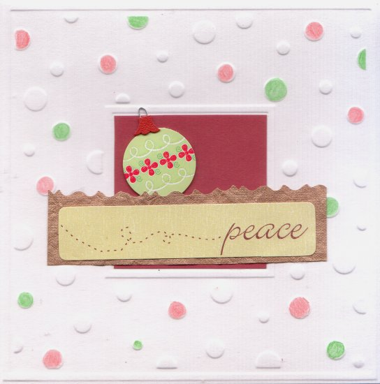 """Handcrafted Holiday Greeting Card - """"Peace"""""""