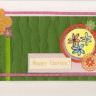 """A Colorful Easter"" Floral Themed Handcrafted Easter Greeting Card"