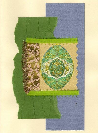 Elegant Handcrafted Easter Greeting Card