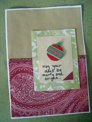 """""""May Your Days Be Merry and Bright"""" Holiday Greeting Card"""