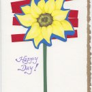 """Happy Day"" Sunflower Handmade Greeting Card"