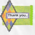Abstract Design Thank You Handmade Greeting Card