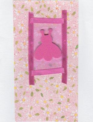 Pink Ladybug - All Occasion Handmade Greeting Card