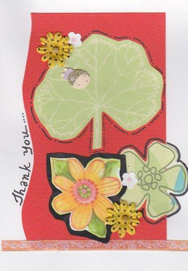 Handmade Thank You Greeting Card - Nature Theme
