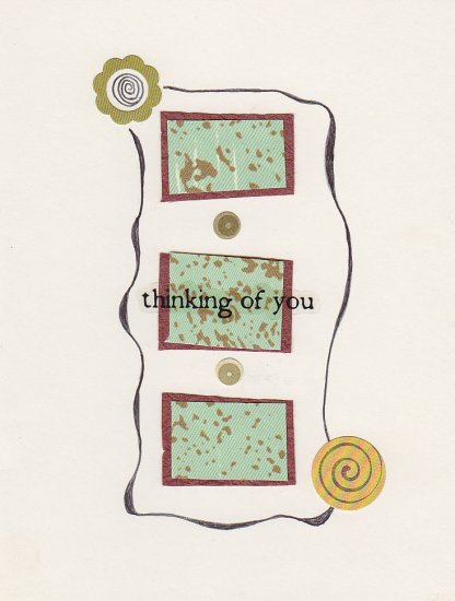 """Thinking of You"" - Handmade Greeting Card"