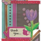 Handmade Thank You Card - Tulip & Polka Dot Theme