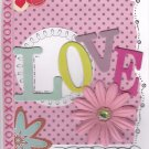 Love and Floral Theme Handmade Valentine's Day Card