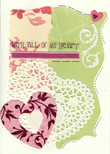 """With All of My Heart"" Handmade Valentine's Day Card"
