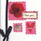 """I Love You"" Handcrafted Valentine's Day Card"