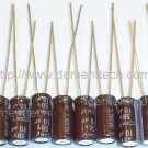10x 10uF 50v Nippon KY 105C Low-ESR radial capacitors