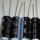 4x 3300uF 6.3v Nichicon HM 105C 10mm Ultra Low-ESR capacitors