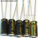 5x 22uF 50v Panasonic FM 105C Low-ESR Capacitors radial caps