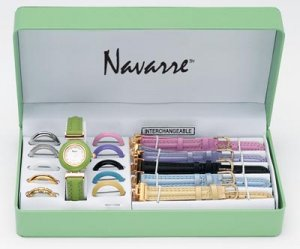 Navarre Ladies Watch with interchangable bands and faces