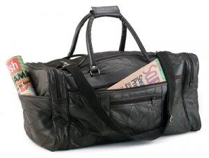 "21""Genuine Leather Tote Bag"