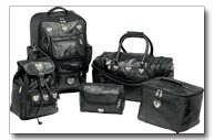 5 Piece Luggage Set with Heart Conchos & Embossed Alligator Grain Design