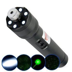 Ultra Power 200mW Green Laser Pointer + LED Torch Light