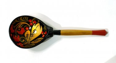 Russian wooden spoon Khokhloma