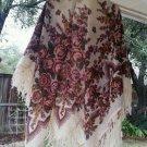 Russian shawl 100% rare dense wool 58' X 58'