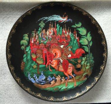 Russian decorative plate Palekh