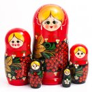 Wooden Nesting doll five pieces 7'