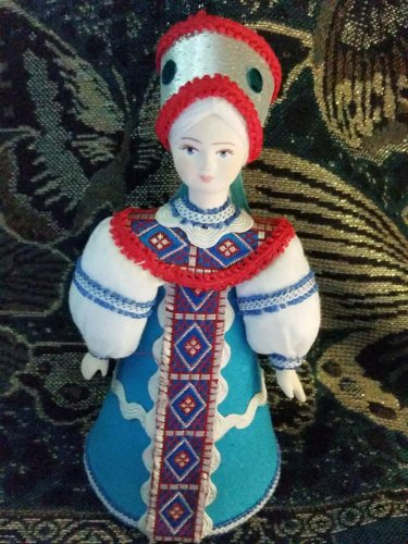 Russian costume doll 5' Hand made