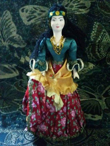 Russian Gypsy costume doll 10'