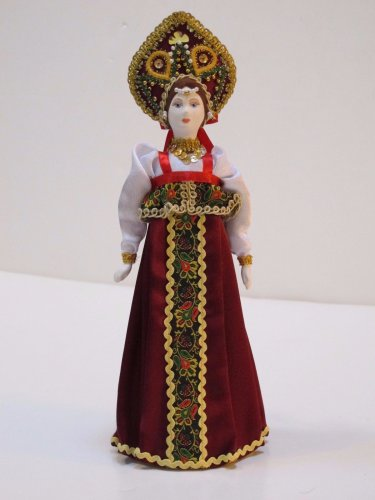 Russian costume doll 12'