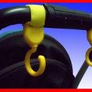 Multi Purpose Baby Stroller Hooks (Yellow) - 1 pair
