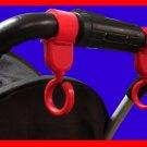 Multi Purpose Baby Stroller Hook (Red) - 1 pair