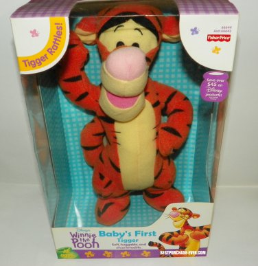 Brand New Baby's First Tigger Rattles Stuffed Animal Plush