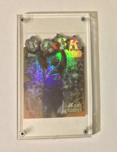 Karl Malone 1997-98 Topps Rock Stars Refractor #RS16 Card