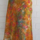 New COLDWATER CREEK floral garden flared lined below knee skirt M 8 10 $69 NWT