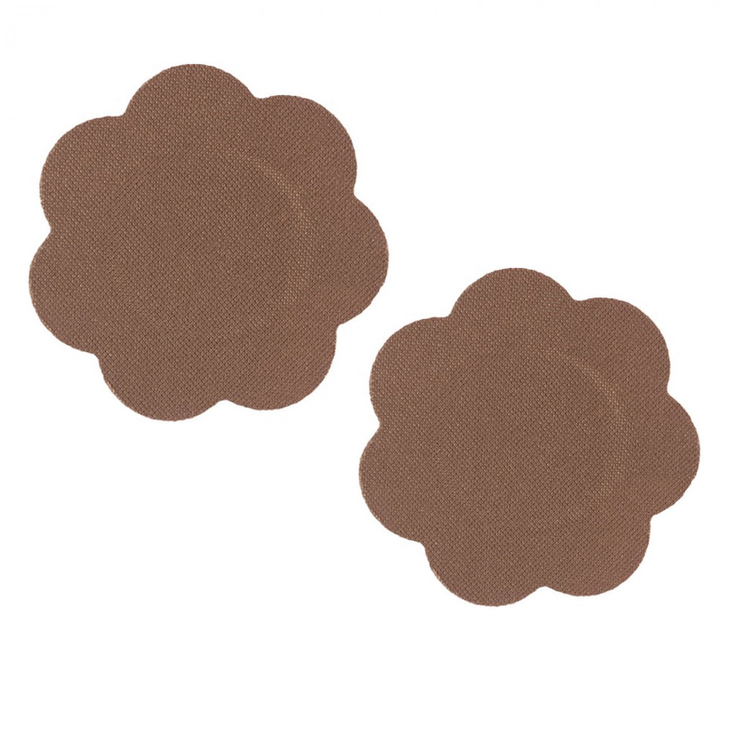Braza Disposable Petal Tops Nipple Covers Pasties 1140 (5 Pairs), Cocoa