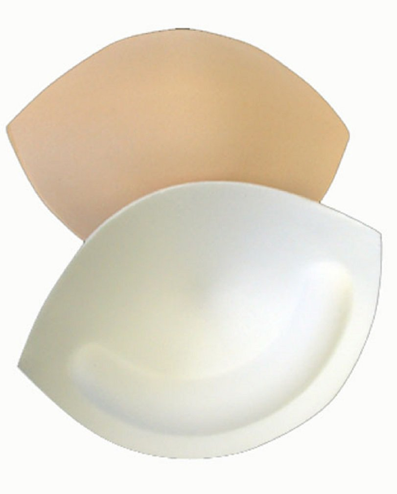 Braza Waterproof Sew In Foam Bra Cup Insert Push Up Pad Breast Enhancer S2600, D Cup, Beige