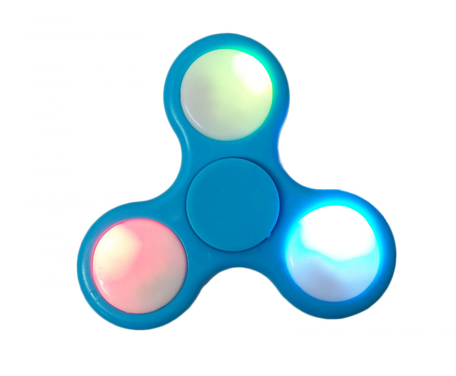 LED Light Show Tri-Spinner Fidget Toy Hand Spinner Anxiety and Stress Relief ADHD Focus Toy, Blue