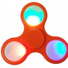 LED Light Show Tri-Spinner Fidget Toy Hand Spinner Anxiety and Stress Relief ADHD Focus Toy, Orange