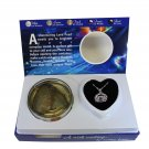 """Cancer Zodiac Sign Love Wish Pearl Kit Cultured Pearl Necklace Set with Stainless Steel Chain 16"""""""