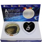 """Pisces Zodiac Sign Love Wish Pearl Kit Cultured Pearl Necklace Set with Stainless Steel Chain 16"""""""