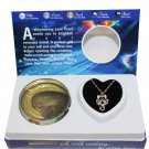 """Scorpio Zodiac Sign Love Wish Pearl Kit Cultured Pearl Necklace Set with Stainless Steel Chain 16"""""""